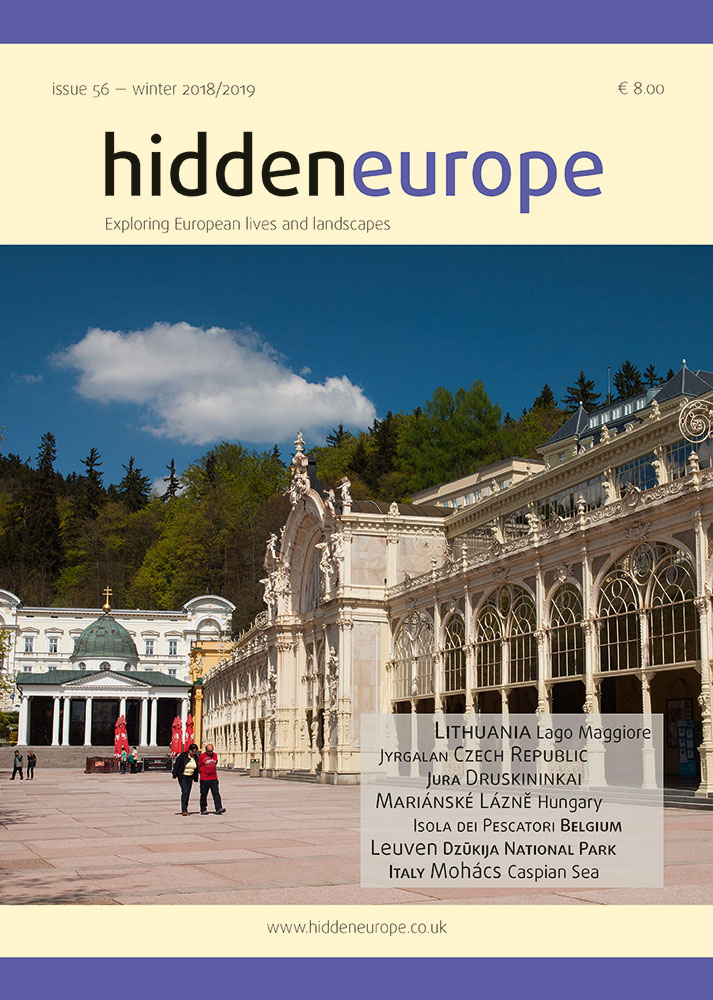 title page of latest issue of hidden europe magazine